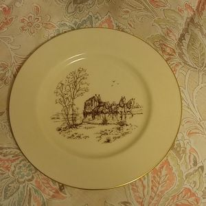 Vintage Lenox Stagecoach Dinner Plate